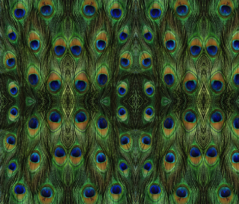 Peacock Insanity fabric by rima on Spoonflower - custom fabric