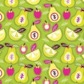 Pears, Strawberries, Lemons and Limes