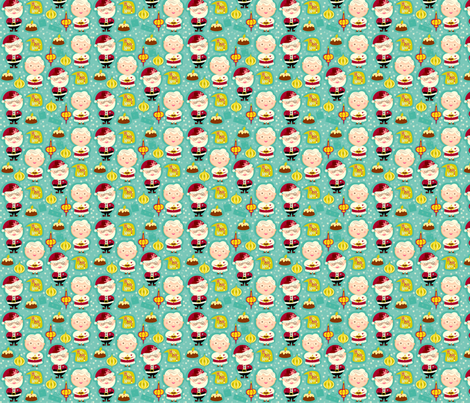 Mr and Mrs Claus Love Christmas fabric by gomakeme on Spoonflower - custom fabric