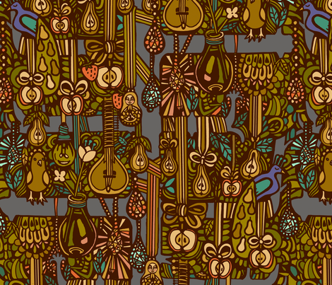 peartree fabric by ruusulampi on Spoonflower - custom fabric