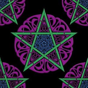 Knotwork Pentacle on Black