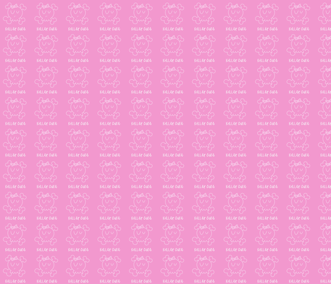 Pink Killer Cute fabric by jnifr on Spoonflower - custom fabric