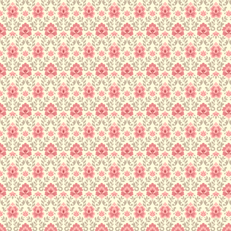 funnybunny.se salmon fabric by helena on Spoonflower - custom fabric