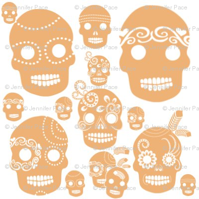 Orange Sugar Skulls