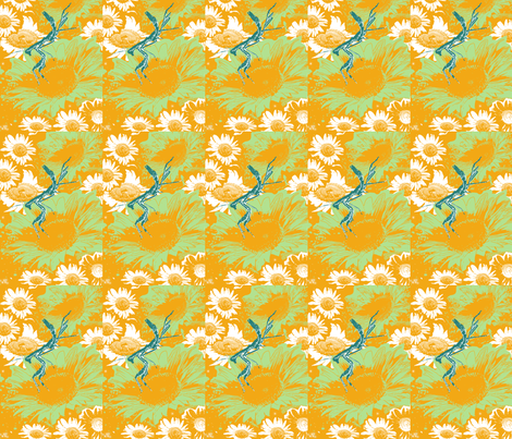 Missy Mantis fabric by bad_penny on Spoonflower - custom fabric