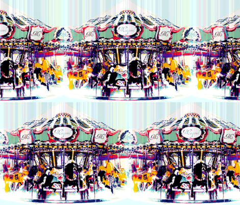 Circus Carousel fabric by glo-wing123 on Spoonflower - custom fabric