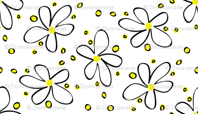 Yellow Black Flower