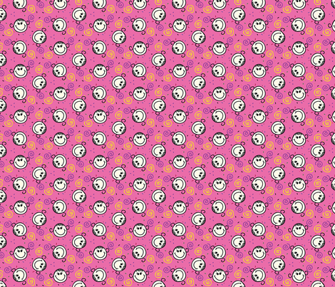 Girl and Spirals fabric by donnamarie on Spoonflower - custom fabric