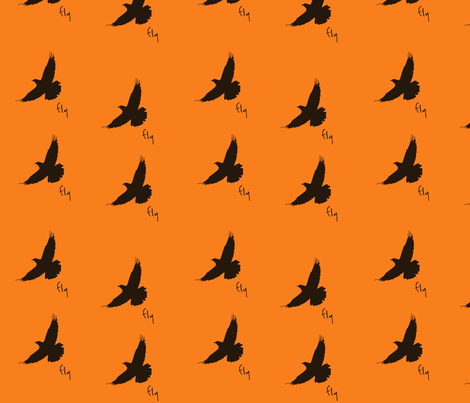 fly_bird fabric by featheredneststudio on Spoonflower - custom fabric