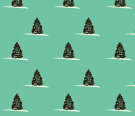 pine_tree_fabric fabric by featheredneststudio on Spoonflower - custom fabric