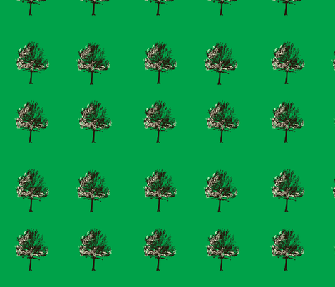 tree_on_green fabric by featheredneststudio on Spoonflower - custom fabric