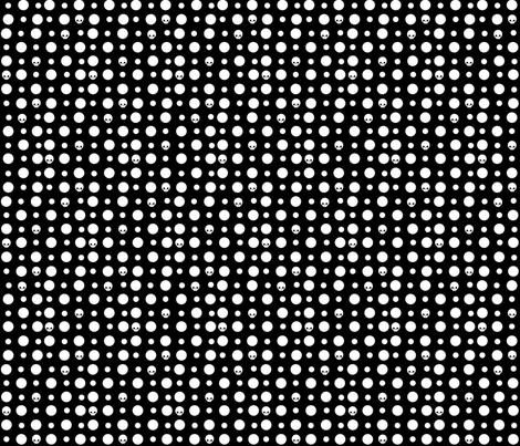 Skullkadots fabric by katbrunnegraff on Spoonflower - custom fabric
