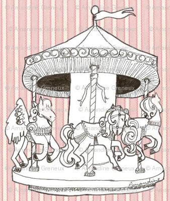 Carrousel en rose