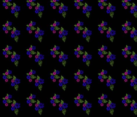 BlueandPinkFlowers fabric by snooky on Spoonflower - custom fabric
