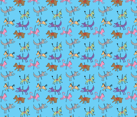 merry_go_round_menagerie fabric by chewytulip on Spoonflower - custom fabric