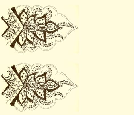 VerticalMehndiFlowerBorder fabric by joonmoon on Spoonflower - custom fabric
