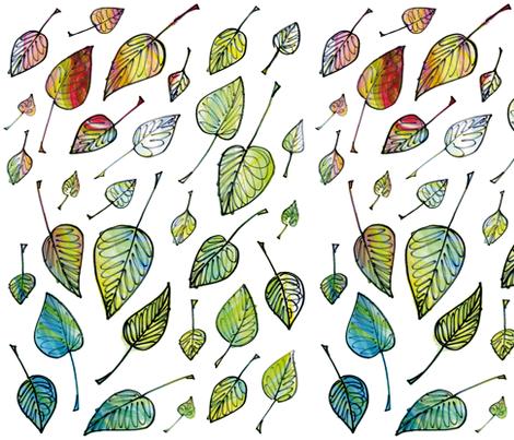 Leaves fabric by sandeehjorth on Spoonflower - custom fabric