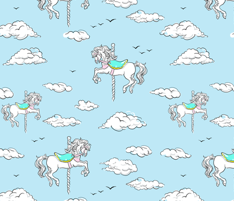 carousel_sky-high fabric by snow&water on Spoonflower - custom fabric