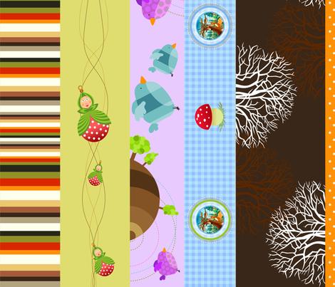10 x border / belt fabric by vina on Spoonflower - custom fabric