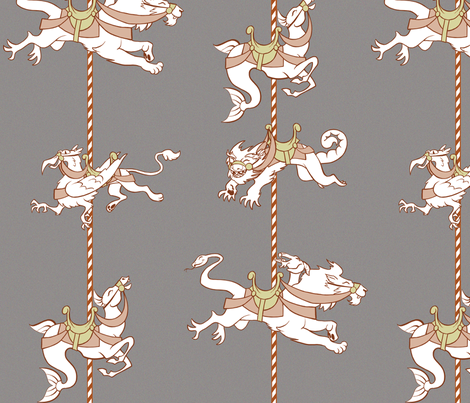 monster_carousel fabric by garmonsway_designs on Spoonflower - custom fabric