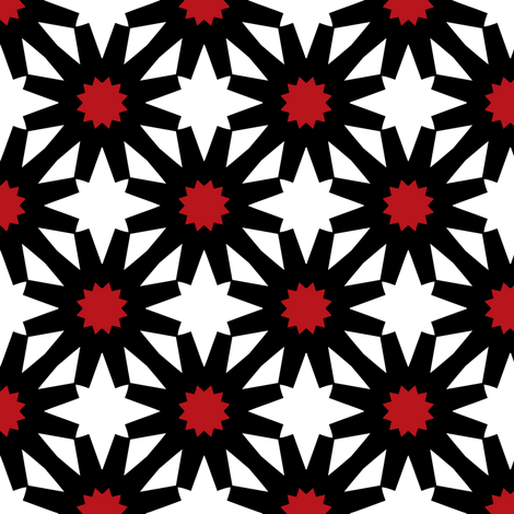 Epiphany Stars (Red) fabric by nekineko on Spoonflower - custom fabric
