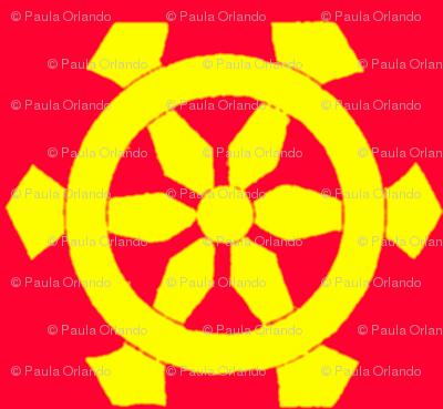 Red & Yellow Prayer Wheels-ed