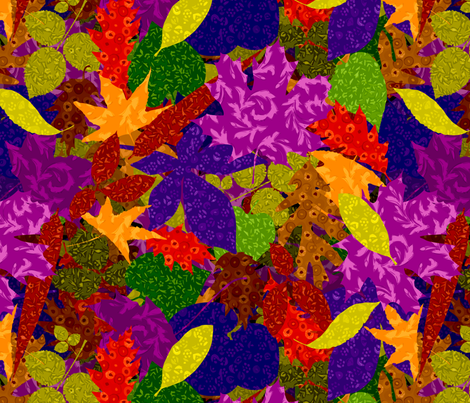 Fall Leaves fabric by carrielouise on Spoonflower - custom fabric
