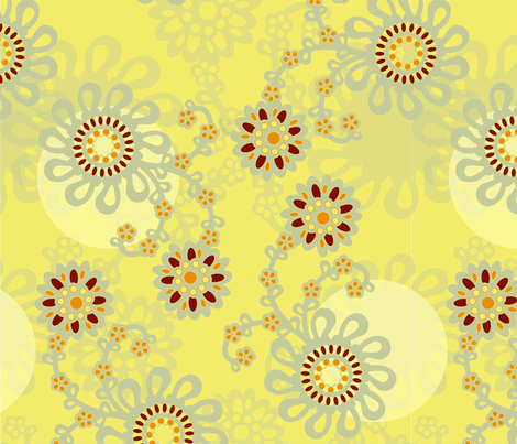 Flat Flower fabric by mudstuffing on Spoonflower - custom fabric
