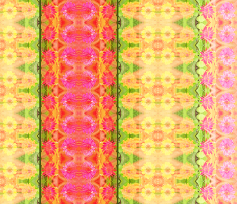 D_zinnia_border_6300x300_Picnik_collage fabric by khowardquilts on Spoonflower - custom fabric