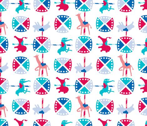 Merry Go Round fabric by acbeilke on Spoonflower - custom fabric