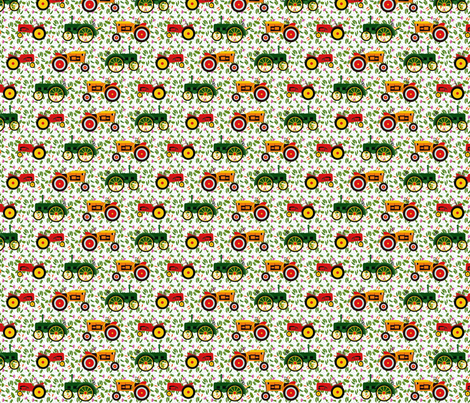 tractors_veg_1 fabric by lfntextiles on Spoonflower - custom fabric