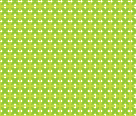 Green Diamond Flowers fabric by audreyclayton on Spoonflower - custom fabric