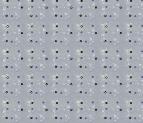Christmas_Snow_on_Pale_Blue fabric by snooky on Spoonflower - custom fabric
