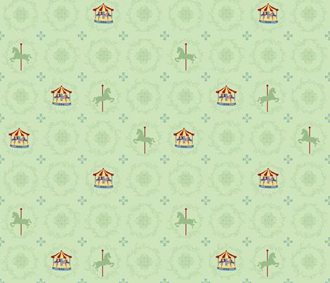 carousel fabric by shiny on Spoonflower - custom fabric
