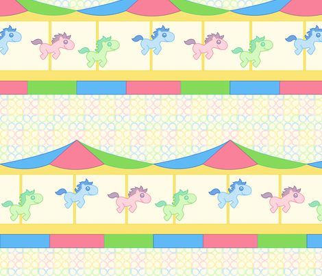 Carousel fabric by leighr on Spoonflower - custom fabric