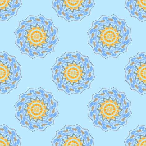 Whirling Carousel  fabric by rhondadesigns on Spoonflower - custom fabric
