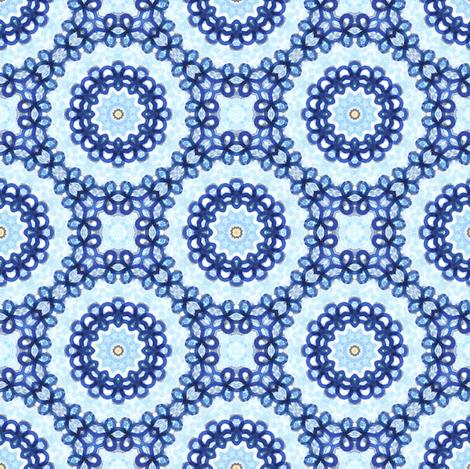 Fair Floral Knot Garden. fabric by rhondadesigns on Spoonflower - custom fabric