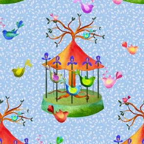 A forest merry go round of love