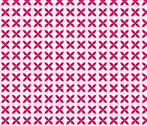 Pink Diamond Flowers fabric by audreyclayton on Spoonflower - custom fabric