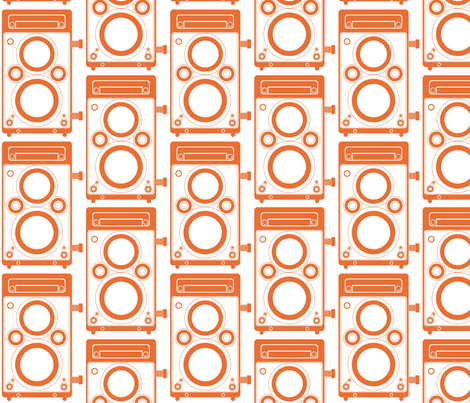 Orange Twin Lens Reflex fabric by audreyclayton on Spoonflower - custom fabric