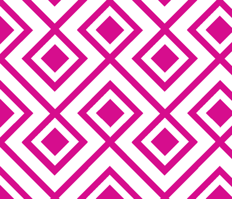 Connect the Blocks-Fuschia fabric by honey&fitz on Spoonflower - custom fabric