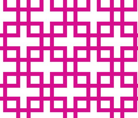 Big Box-Fuschia fabric by honey&fitz on Spoonflower - custom fabric