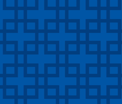 Big Box-Navy fabric by honey&fitz on Spoonflower - custom fabric