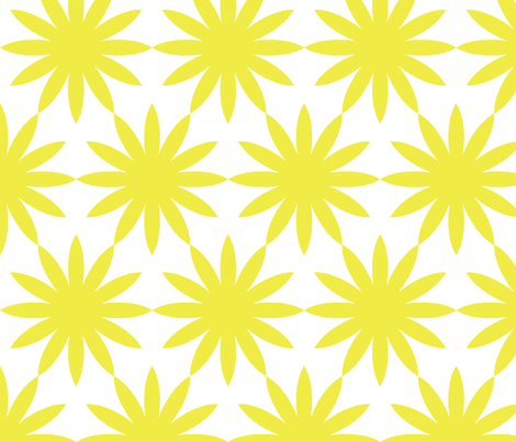 Starburst-Yellow fabric by honey&fitz on Spoonflower - custom fabric