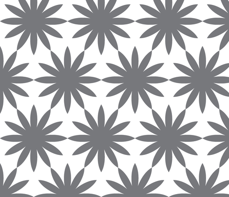 Starburst-Charcoal fabric by honey&fitz on Spoonflower - custom fabric