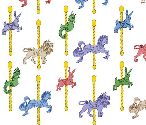 Carousel Fun Time fabric by sarahthomas on Spoonflower - custom fabric