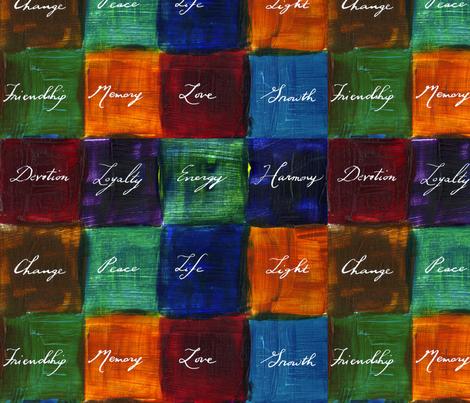 dailymediationsfabric2 fabric by handwrittenlife on Spoonflower - custom fabric