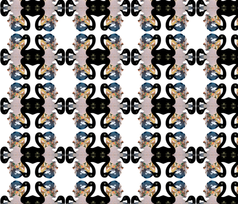 Hans Christian Andersen Collection - The Ugly Duck and the life of the writer fabric by _vandecraats on Spoonflower - custom fabric