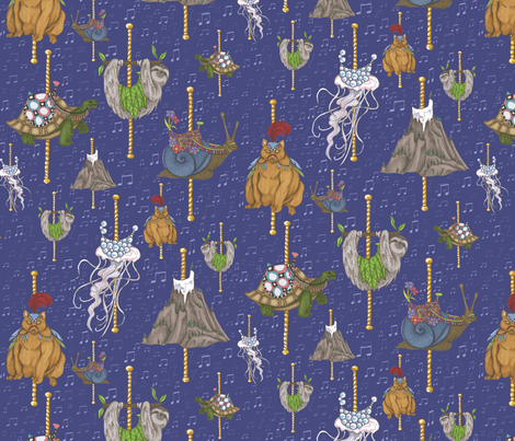 The Barely-Go-Round fabric by ceanirminger on Spoonflower - custom fabric