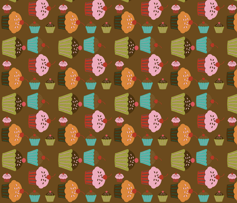 multiplecupcakes fabric by jnifr on Spoonflower - custom fabric